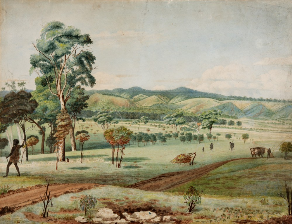 Martha Berkeley, Mt Lofty from the Terrace.  Adelaide c1840 Courtesy Art Gallery of South Australia Adelaide