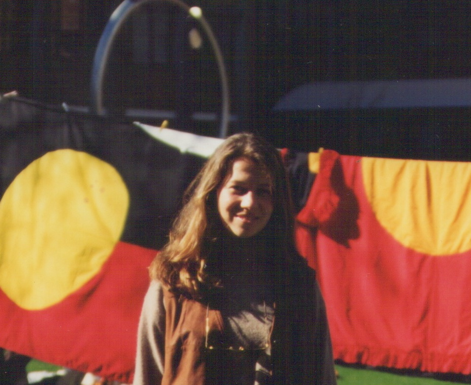A younger me on Australia day in 1993